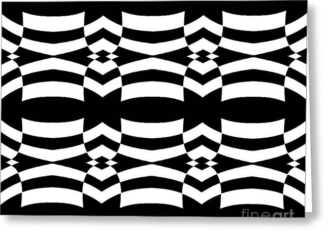 Op Art Black White Pattern No.139  Greeting Card by Drinka Mercep