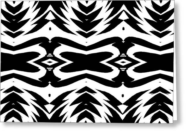 Pattern Black White No.232. Greeting Card by Drinka Mercep