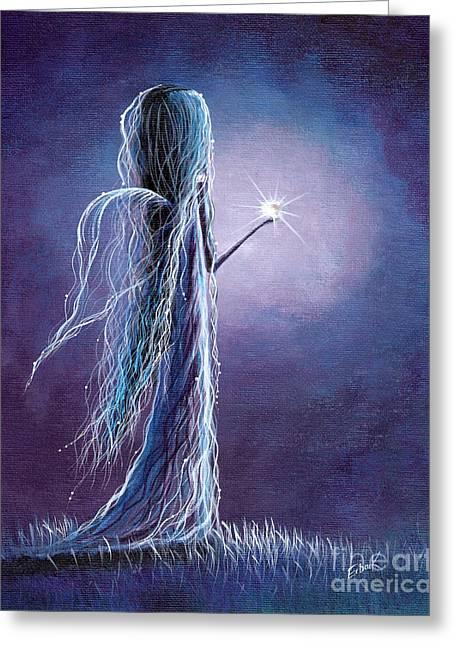 Opal Fairy By Shawna Erback Greeting Card by Shawna Erback