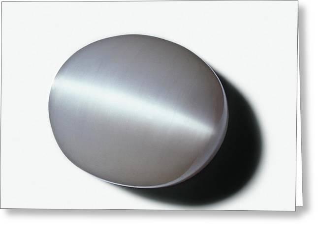 Opalescent Gypsum Or Satin Spar Greeting Card by Dorling Kindersley/uig