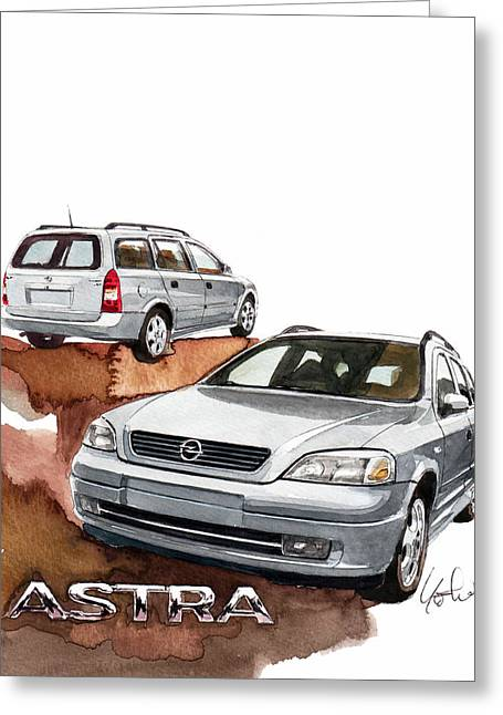 Opel Astra Greeting Card