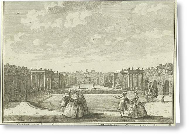 Open-air Theater In The Garden Of House Ter Meer In Maarssen Greeting Card by Hendrik De Leth