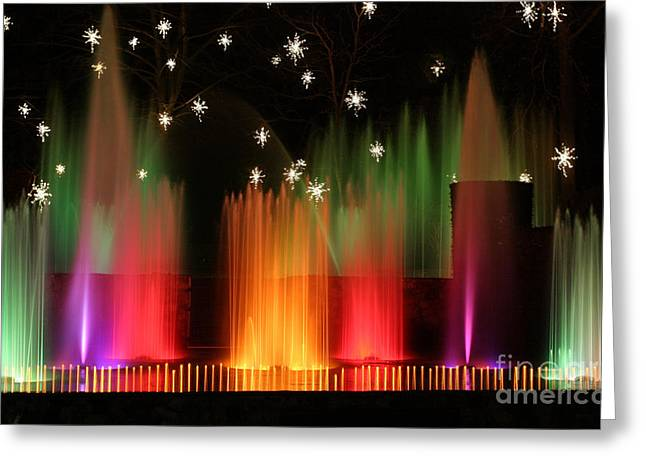 Open Air Theatre Rainbow Fountain Greeting Card