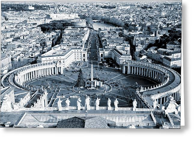 Open Arms Of The Church - St Peter's Square Greeting Card by Mark E Tisdale