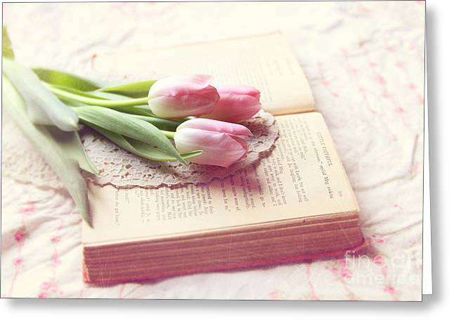 Open Book Greeting Card by Sylvia Cook