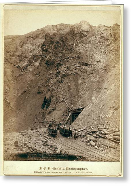 Open Cut In The Great Homestake Mine, At Lead City Greeting Card
