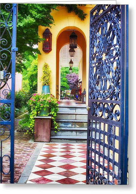 Open Doorway To Southern Living Greeting Card