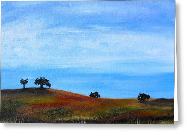 Open Field Greeting Card by Melissa Torres