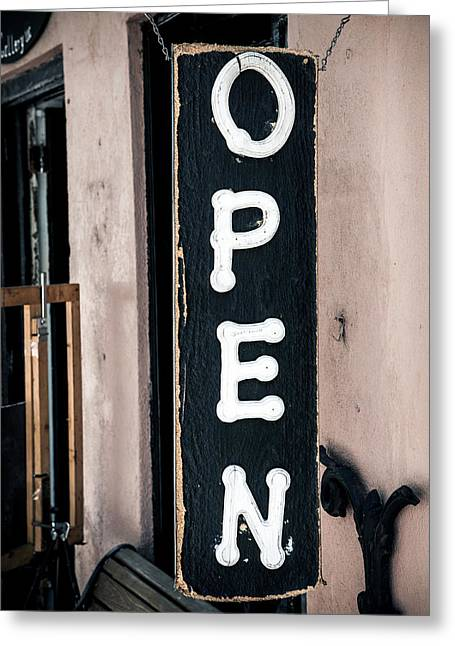 Greeting Card featuring the photograph Open For Business by Sennie Pierson