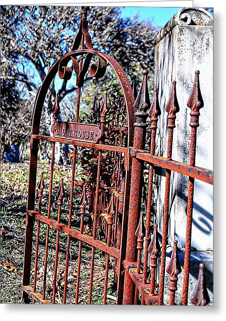 Open Gate Greeting Card by Kelly Kitchens