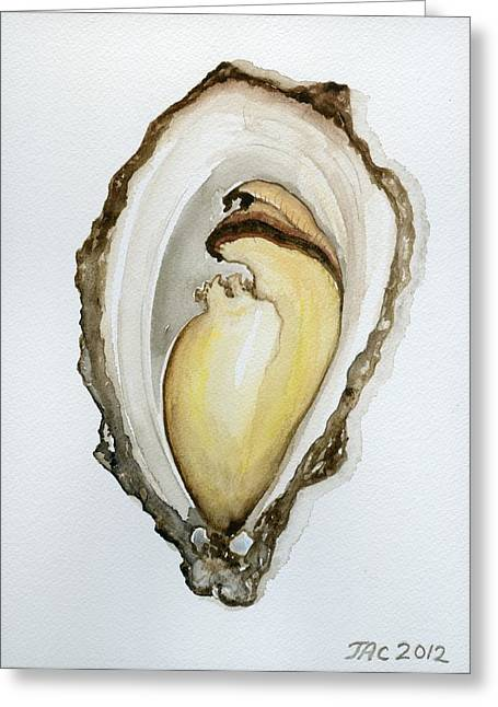 Open Oyster #3 Greeting Card