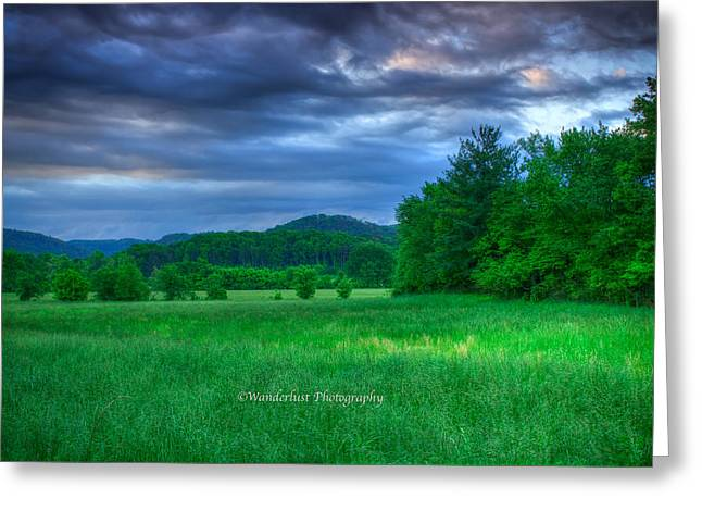 Open Pasture Greeting Card by Paul Herrmann
