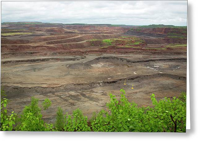 Open Pit Iron Mine Greeting Card by Jim West