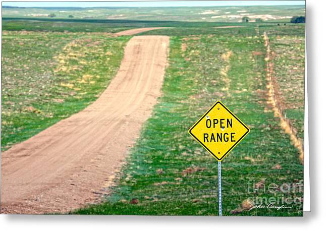 Open Range Greeting Card