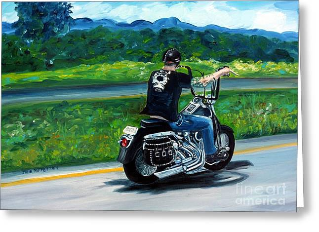 Open Road Greeting Card by Julie Brugh Riffey
