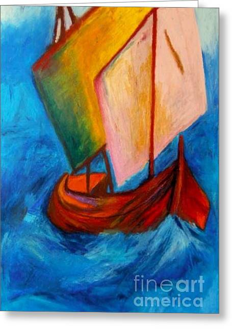Open Sail Greeting Card