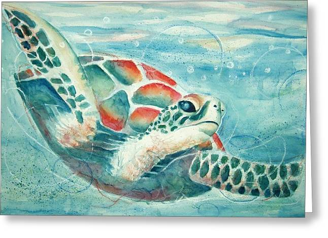 Open Seas Greeting Card by Joanna Gates