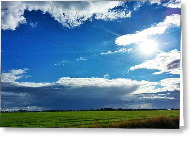 Open Skies Greeting Card by Quincy Casey
