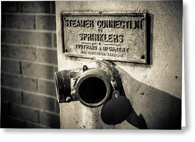 Open Sprinkler Greeting Card by Melinda Ledsome