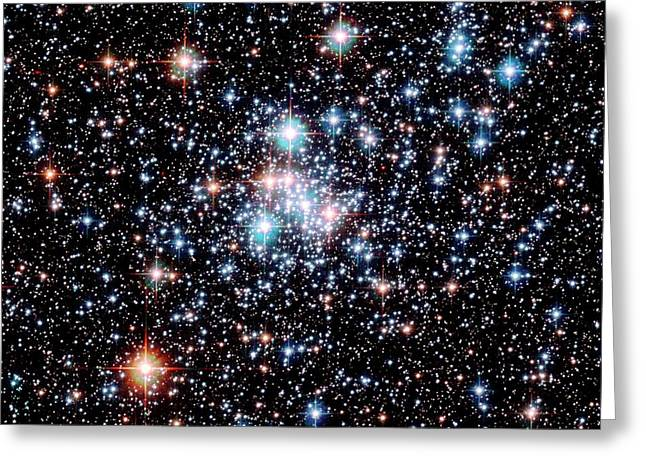 Open Star Cluster Ngc 290 Greeting Card by E. Olszewskiu. Arizonanasaesastsci