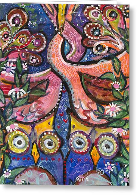 Open Your Heart Greeting Card by Leela Payne