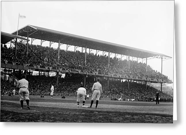 Opening Day At Griffith Stadium - Washington Dc 1922 Greeting Card by Mountain Dreams