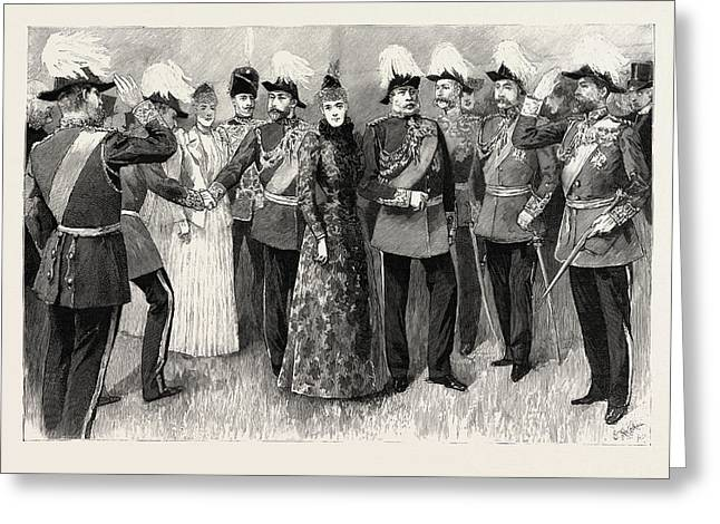 Opening Of The Royal Military Exhibition In The Chelsea Greeting Card