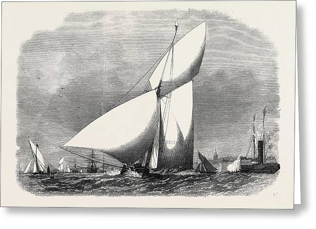 Opening Of The Yachting Season Match Of The Royal Thames Greeting Card