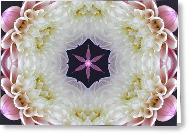Opening To Love Mandala Greeting Card