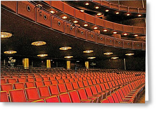 Greeting Card featuring the photograph Opera House Auditorium In John F Kennedy Center For The Performing Arts-washington Dc  by Ruth Hager
