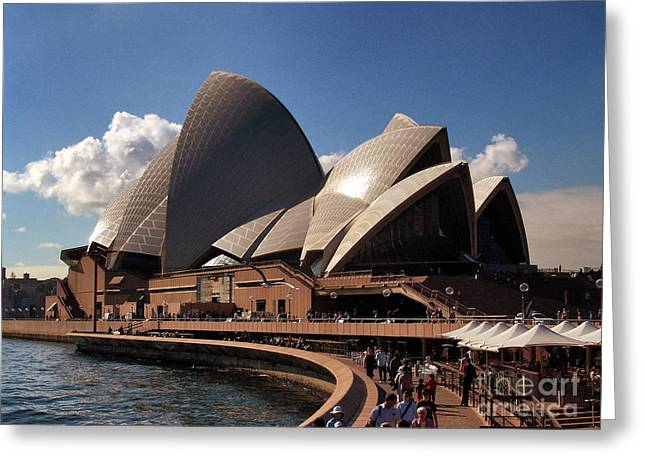 Greeting Card featuring the photograph Opera House Famous by John Swartz