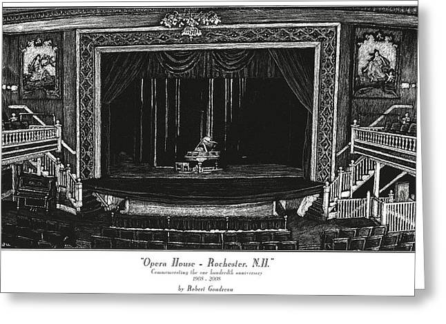 Opera House - Rochester Nh Greeting Card by Robert Goudreau