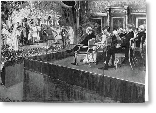 Opera Lohengrin, 1899 Greeting Card by Granger