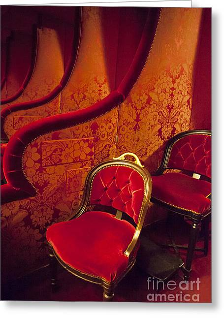 Opera Seat Greeting Card by Brian Jannsen