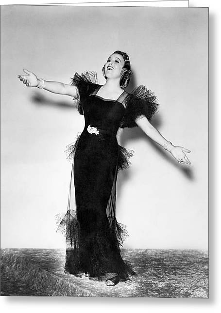Opera Star Grace Moore Sings Greeting Card by Underwood Archives