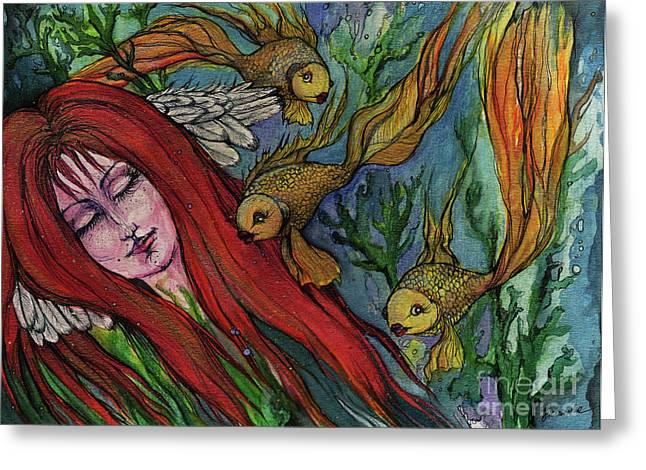Ophelia Greeting Card by Angel  Tarantella