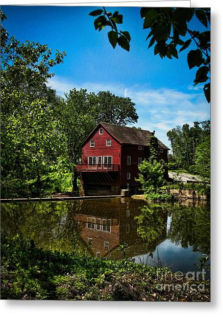 Opie's Grist Mill Greeting Card by Colleen Kammerer