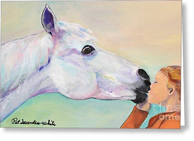 Opies' Kiss Greeting Card by Pat Saunders-White