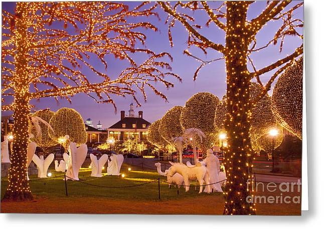 Opryland Hotel Christmas Greeting Card by Brian Jannsen