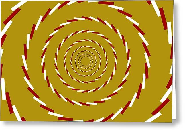 Optical Illusion Whirlpool Greeting Card