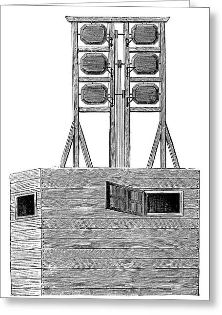 Optical Telegraphy Greeting Card by Science Photo Library