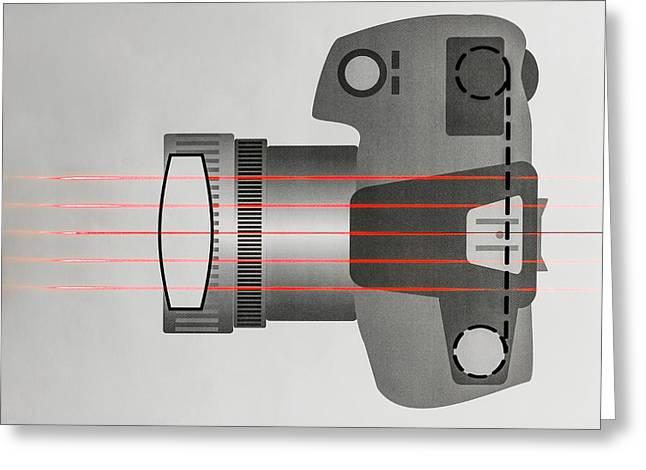 Optics Of Camera With No Lens Greeting Card
