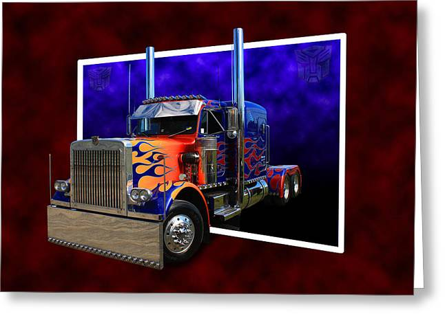 Greeting Card featuring the photograph Optimus Prime Peterbilt by Keith Hawley
