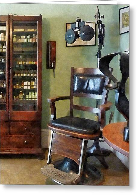 Optometrist - Eye Doctor's Office Greeting Card by Susan Savad