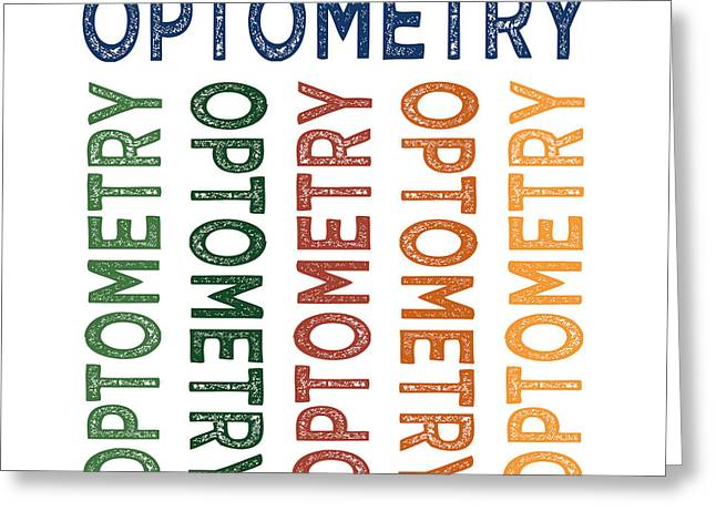 Optometry Cute Colorful Greeting Card