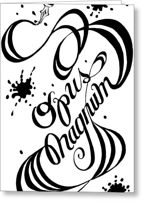 Opus Magnum Greeting Card by Carol Jacobs