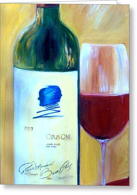 Opus One  Greeting Card by Sheri  Chakamian