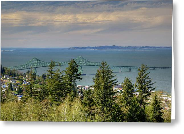 Or, Astoria, Astoria Megler Bridge Greeting Card by Jamie and Judy Wild