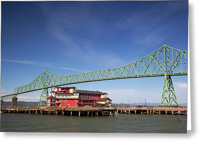 Or, Astoria, Astoria-melger Bridge Greeting Card by Jamie and Judy Wild