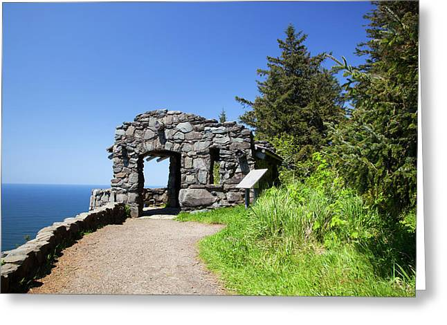 Or, Cape Perpetua Scenic Area, Shelter Greeting Card by Jamie and Judy Wild